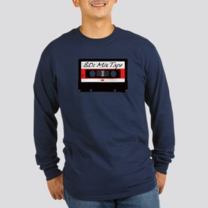 80s Music Mix Tape Casset Long Sleeve Dark T-Shirt