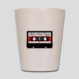 80s Music Mix Tape Cassette Shot Glass