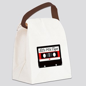 80s Music Mix Tape Cassette Canvas Lunch Bag
