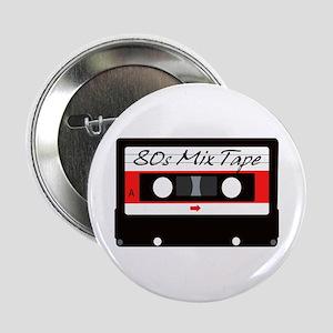 "80s Music Mix Tape Cassette 2.25"" Button"