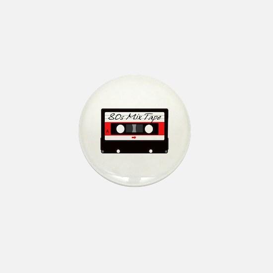 80s Music Mix Tape Cassette Mini Button