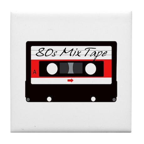 80s Music Mix Tape Cassette Tile Coaster