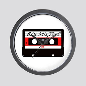 80s Music Mix Tape Cassette Wall Clock
