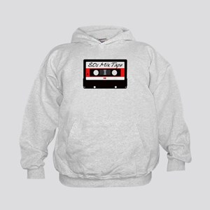 80s Music Mix Tape Cassette Kids Hoodie