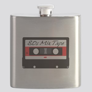 80s Music Mix Tape Cassette Flask