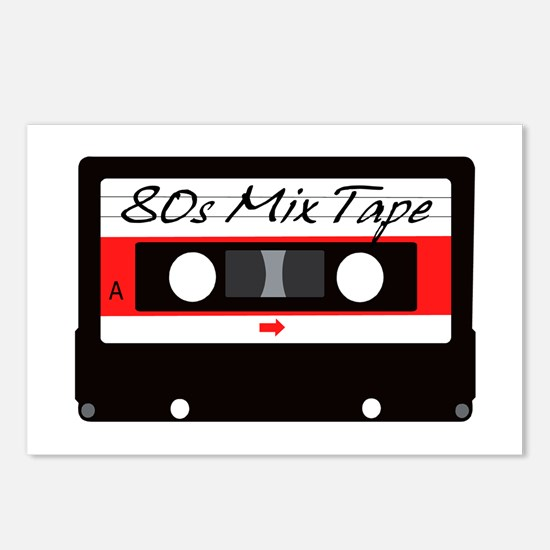 80s Music Mix Tape Casset Postcards (Package of 8)