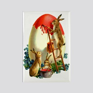 Easter rabbits painting Rectangle Magnet