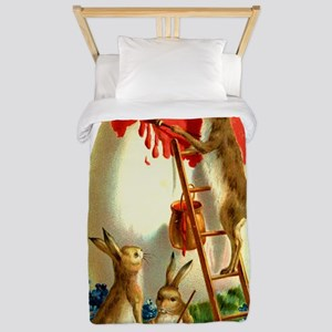 Easter rabbits painting Twin Duvet