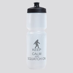 Keep Calm And Squatch On Sports Bottle