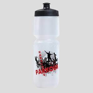 Hardcore Parkour Grunge City Sports Bottle