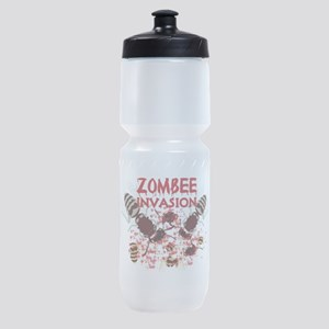 Invasion Of The Zombees Sports Bottle