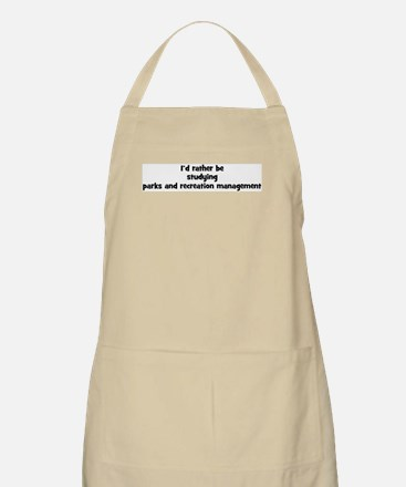 Study parks and recreation ma BBQ Apron