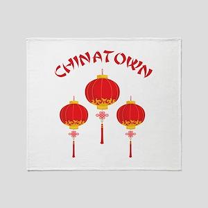 Chinatown Throw Blanket
