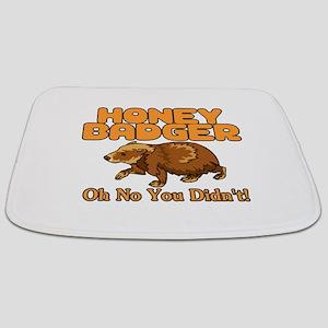 Oh No Honey Badger Bathmat