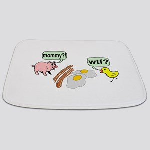 Bacon And Eggs Nightmare Bathmat