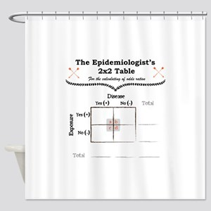 Epidemiologist Odds Ratio Shower Curtain