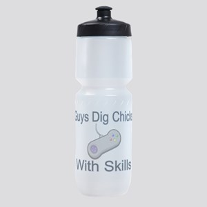 Chicks With Skills Sports Bottle