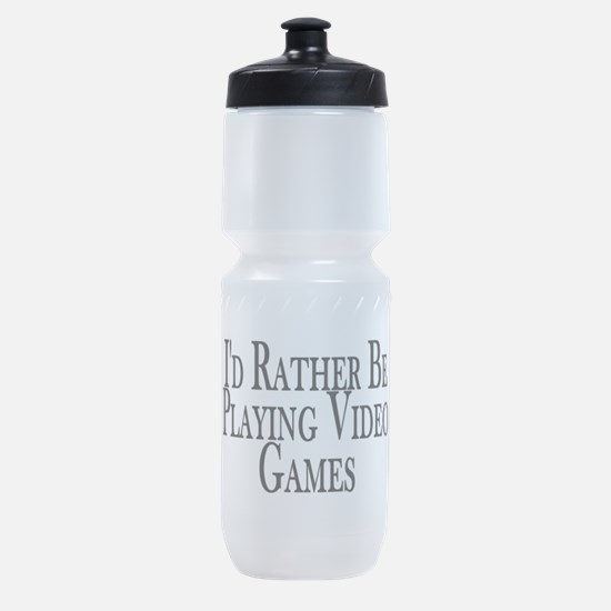 Rather Play Video Games Sports Bottle