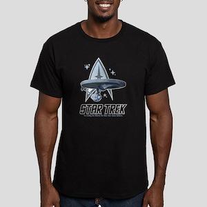 Star Trek Ship with Stars T-Shirt