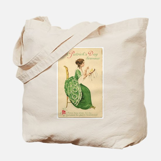 St Patricks Day Lady Tote Bag