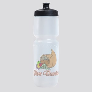 Give Thanks Sports Bottle