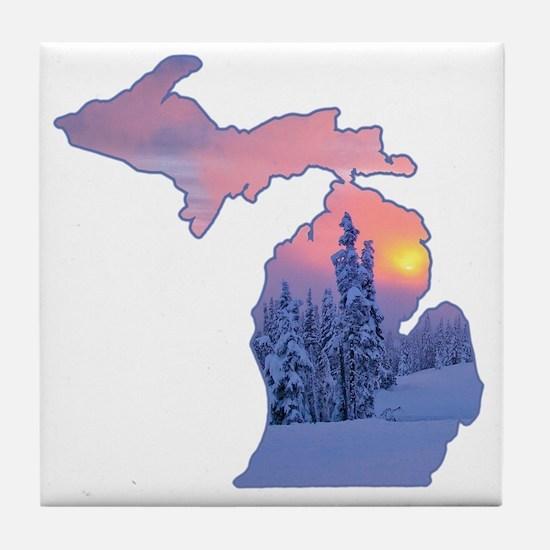Michigan  Tile Coaster