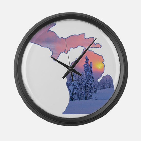 Michigan  Large Wall Clock