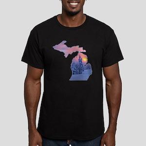 Michigan  Men's Fitted T-Shirt (dark)