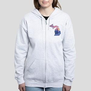 Michigan  Women's Zip Hoodie
