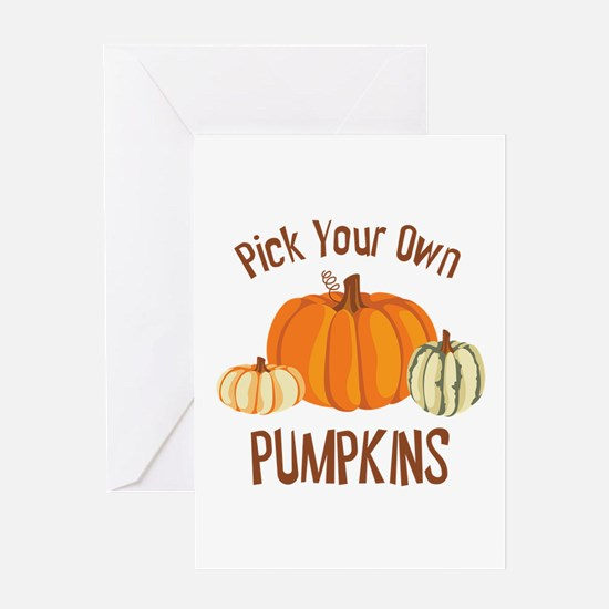 Pick Your Own Pumpkins Greeting Cards