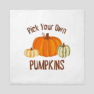 Pick Your Own Pumpkins Queen Duvet