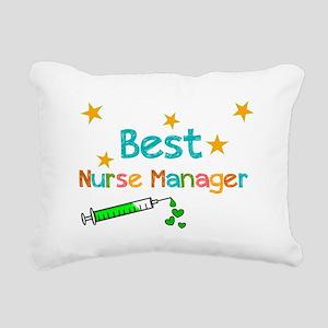 Best Nurse Manager 2 Rectangular Canvas Pillow