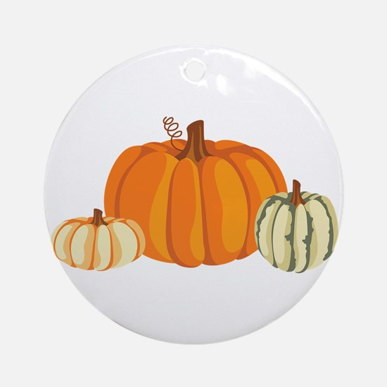 Pumpkins Ornament (Round)