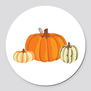 Pumpkins Round Car Magnet