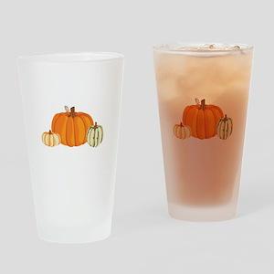 Pumpkins Drinking Glass