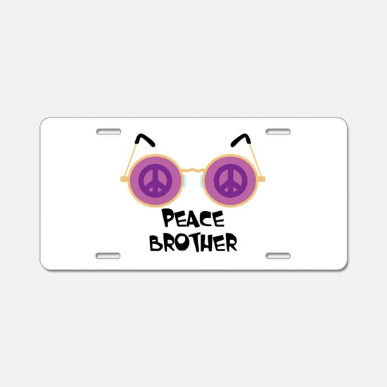 PEACE BROTHER Aluminum License Plate