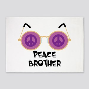 PEACE BROTHER 5'x7'Area Rug