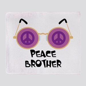 PEACE BROTHER Throw Blanket