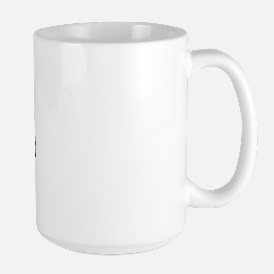Everyone is born right handed Large Mug