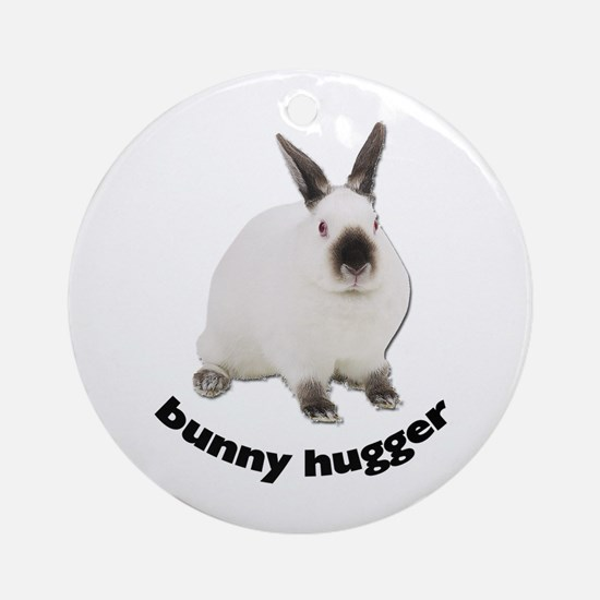 Bunny Hugger Ornament (Round)