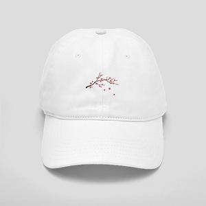 Cherry Blossom Flowers Branch Baseball Cap