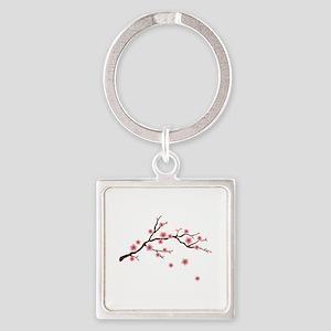 Cherry Blossom Flowers Branch Keychains