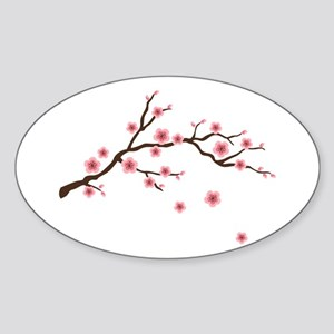 Cherry Blossom Flowers Branch Sticker