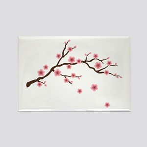 Cherry Blossom Flowers Branch Magnets