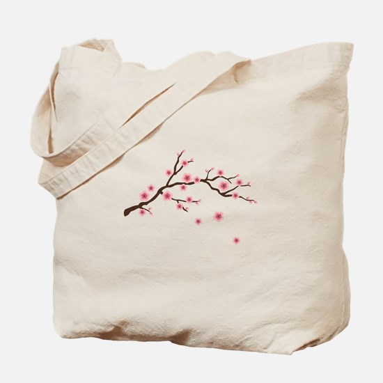 Cherry Blossom Flowers Branch Tote Bag