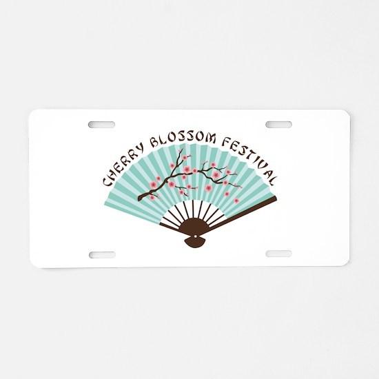 CHERRY BLOSSOM FESTIVAL Aluminum License Plate