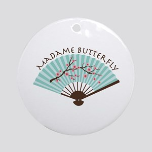 Madam Butterfly Ornament (Round)