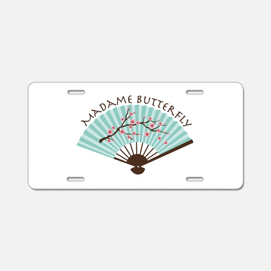 Madam Butterfly Aluminum License Plate