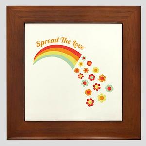 Spread The Love Framed Tile