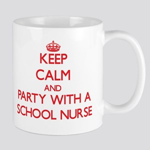 Keep Calm and Party With a School Nurse Mugs